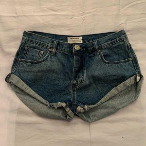 NWOT One Teaspoon Dark Wash Denim Shorts